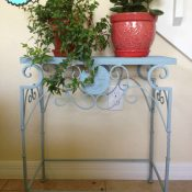 Metal Table Makeover