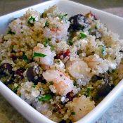 Easy Shrimp and Feta Quinoa
