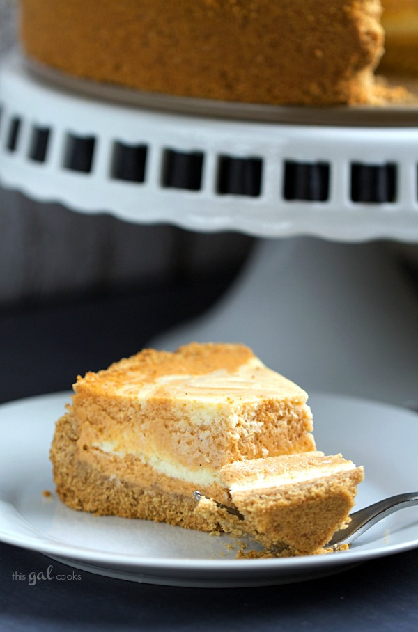 Pumpkin Pie Cheesecake | This Gal Cooks