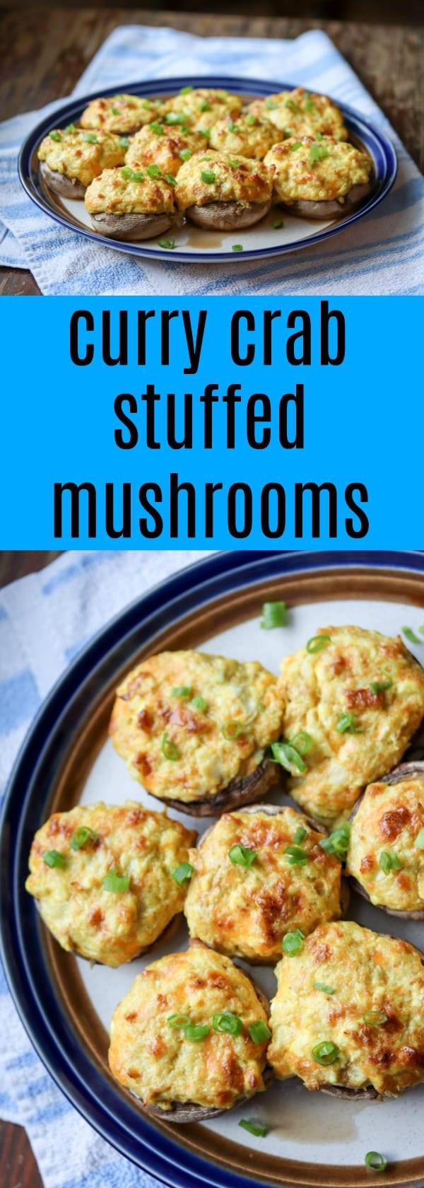 Curry Crab Stuffed Mushrooms