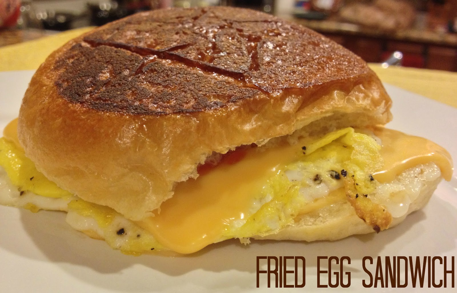 Breakfast for Dinner - Fried Egg Sandwich | This Gal Cooks
