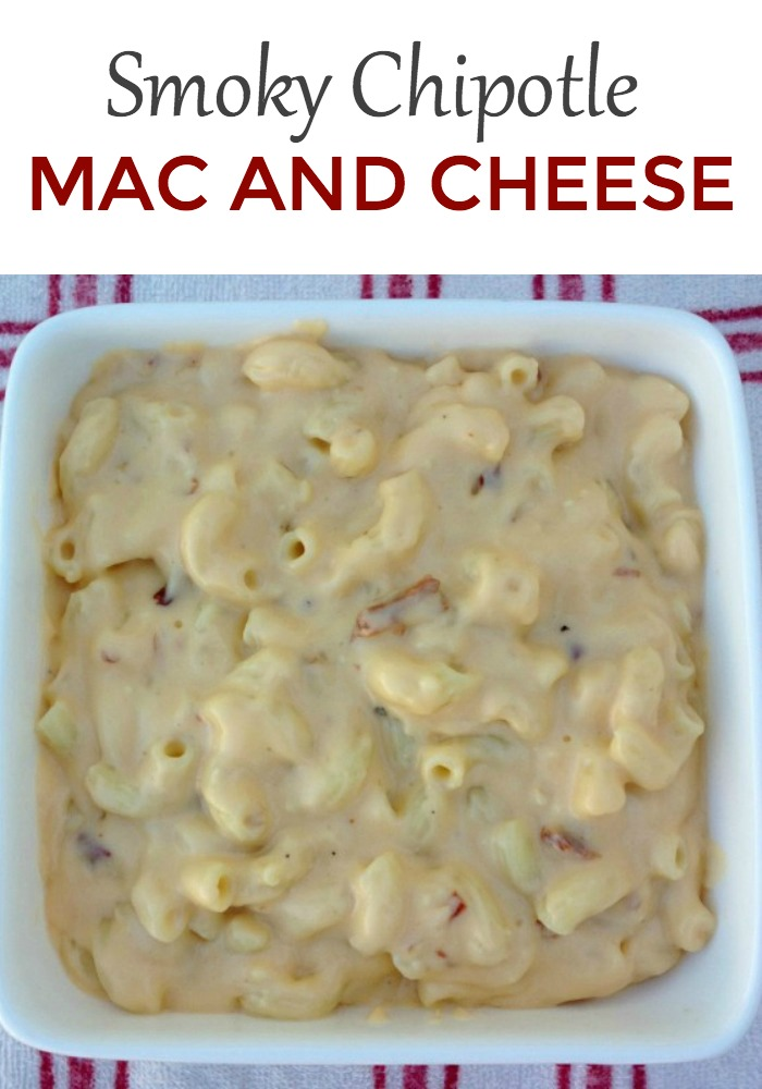 Smoky Chipotle Macaroni and Cheese - a great addition to any dinner meal!