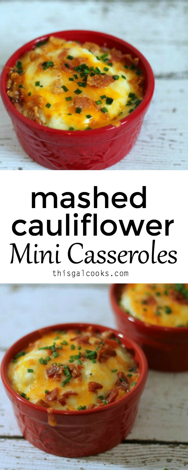 Low carb alternative to mashed potatoes - Low Carb Mashed Cauliflower Mini Casseroles