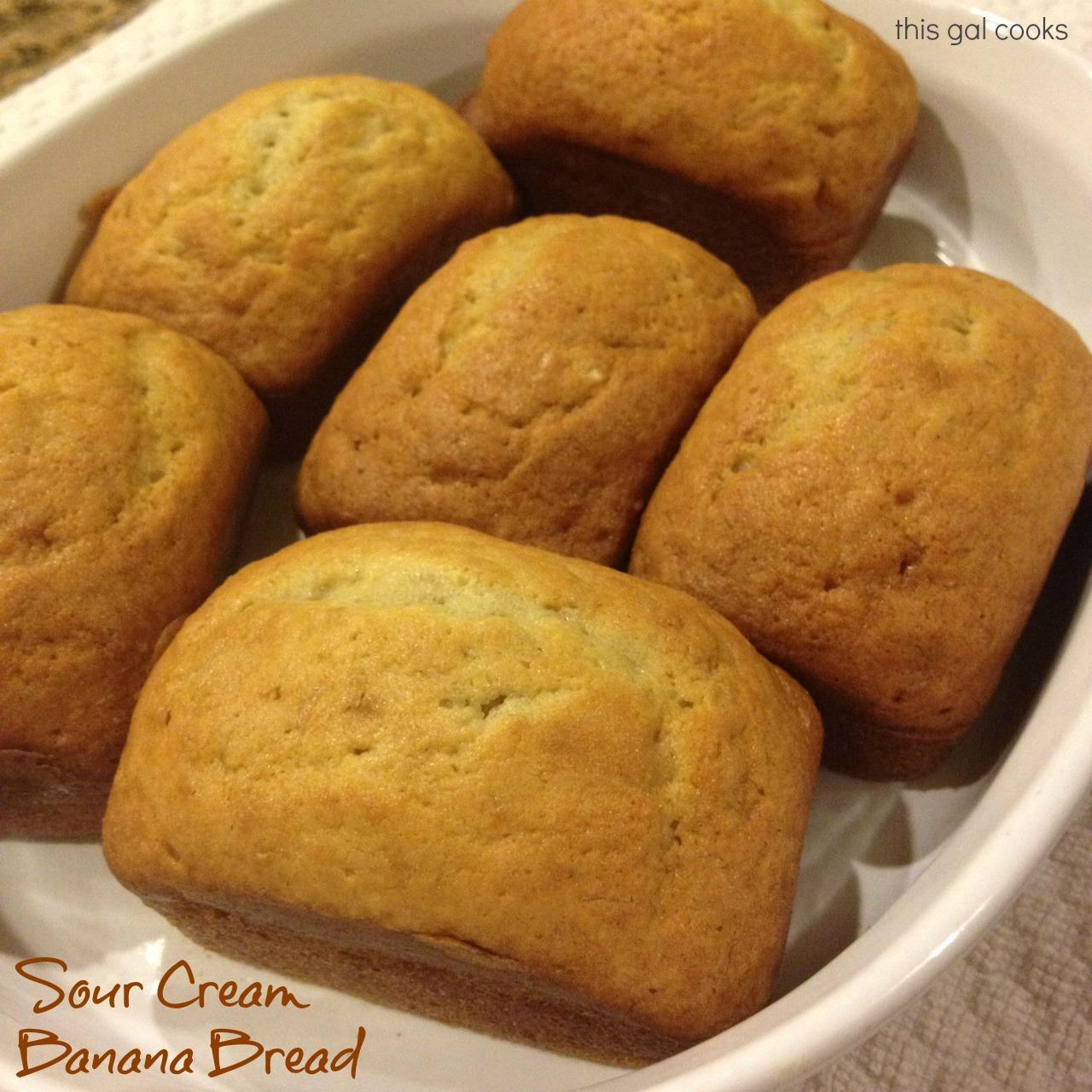 Sour Cream Banana Bread | This Gal Cooks
