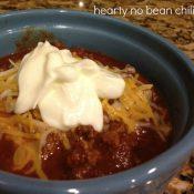 Hearty No Bean Chili Recipe