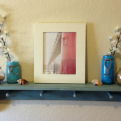 DIY Project: Over the Couch Mantel