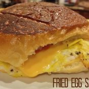 Breakfast for Dinner – Fried Egg Sandwich