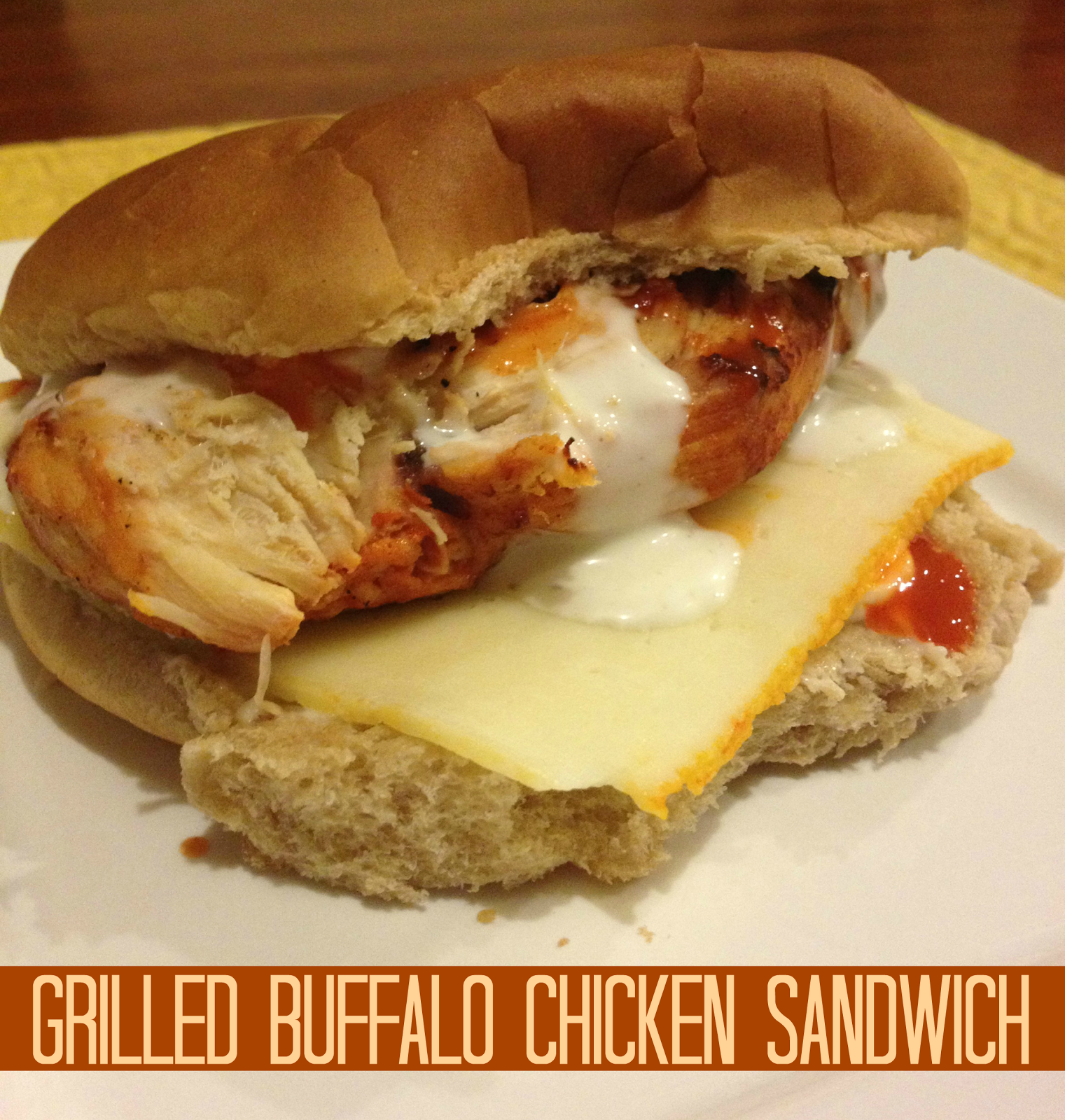 Recipe: Grilled Buffalo Chicken Sandwich | This Gal Cooks