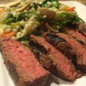 Grilled Steak with Barley Salad