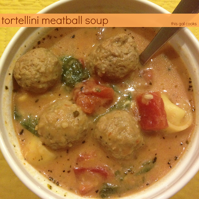 Tortellini Meatball Soup - This Gal Cooks