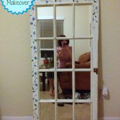 Window Pane Mirror Makeover