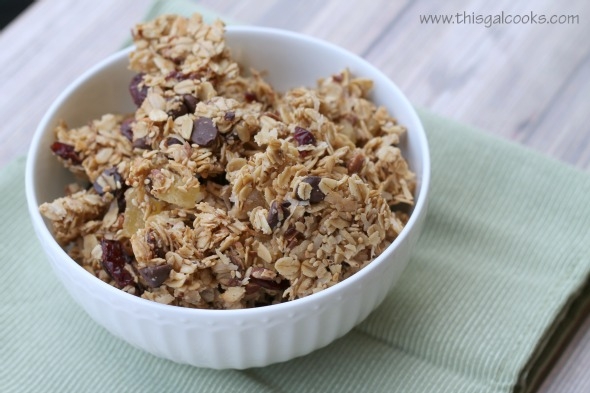 Chocolaty Fruit N Pecan Granola3wm