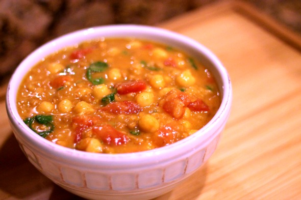 Moroccan Chickpea & Lentil Stew-3
