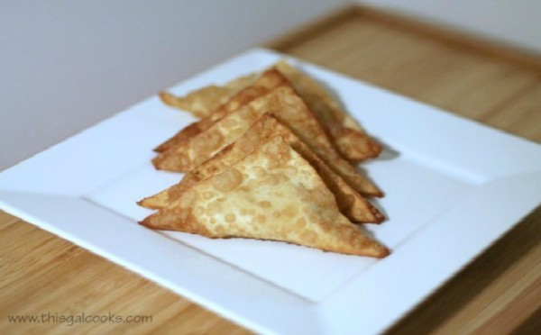 Curry Crab Rangoon - This Gal Cooks
