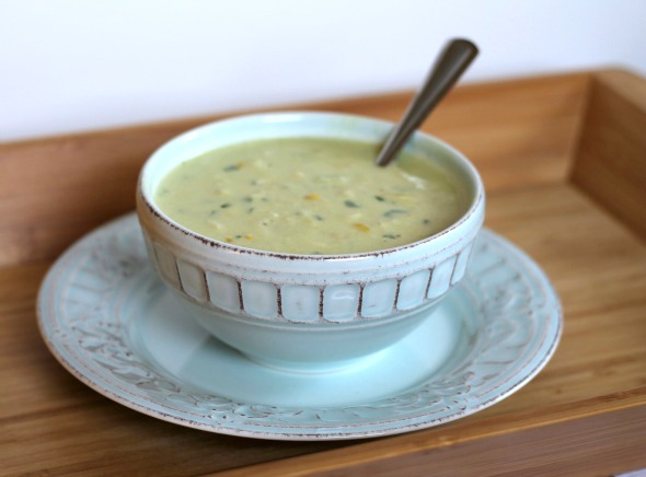 roasted poblano crab chowder-2