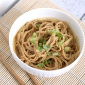 Thai Peanut Sauce with Whole Wheat Noodles