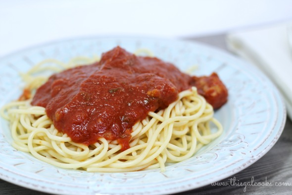 Homemade Spaghetti Sauce with Sausage - This Gal Cooks 4 (wm)