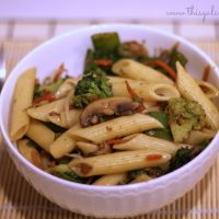 Stir Fry Vegetables with Penne - This Gal Cooks (wm2)