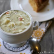 Lightened Up Clam Chowder