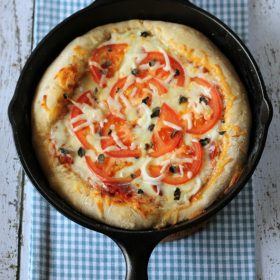 Deep Dish Beer Crust Pizza - This Gal Cooks #pizza #castiron #beercrust