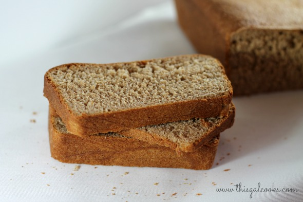 Whole wheat bread - This Gal Cooks wm