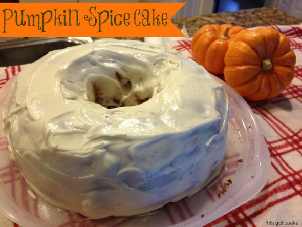 Easy Pumpkin Spice Cake from www.thisgalcooks.com