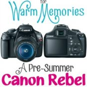 Giveaway: Canon Rebel T3 DSLR Camera
