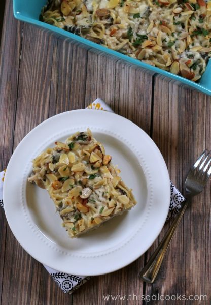 Chicken Tetrazzini from www.thisgalcooks.com #pasta #chicken #mushrooms 2wm
