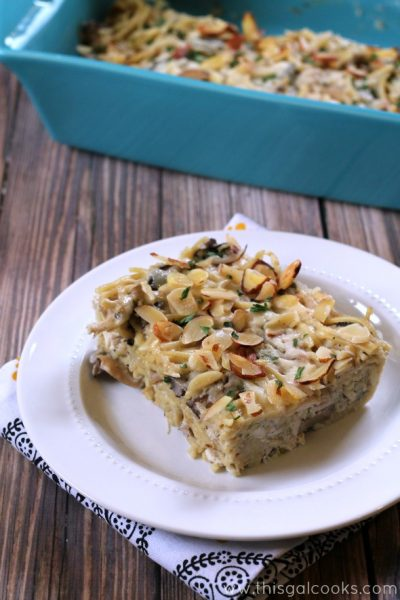 Chicken Tetrazzini from www.thisgalcooks.com #pasta #chicken #mushrooms wm