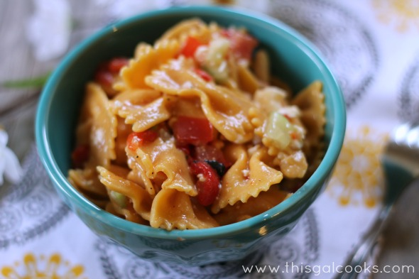 Greek Style Pasta Salad from www.thisgalcooks.com #pasta #greek #salad wm