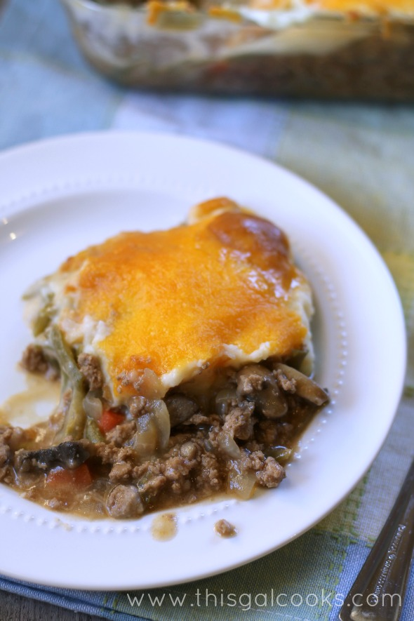 Guinness Turkey Shepherds Pie from www.thisgalcooks.com #beer #casseroles 2wm