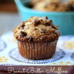 Peanut Butter Muffins with Peanut Butter Chocolate Streusel