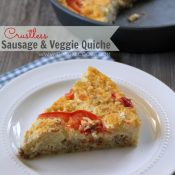 Crustless Sausage & Veggie Quiche