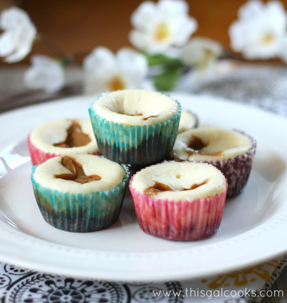 Dulce de Leche Cheesecake Bites from www.thisgalcooks.com #cheesecake #grainfreecrust 2 wm