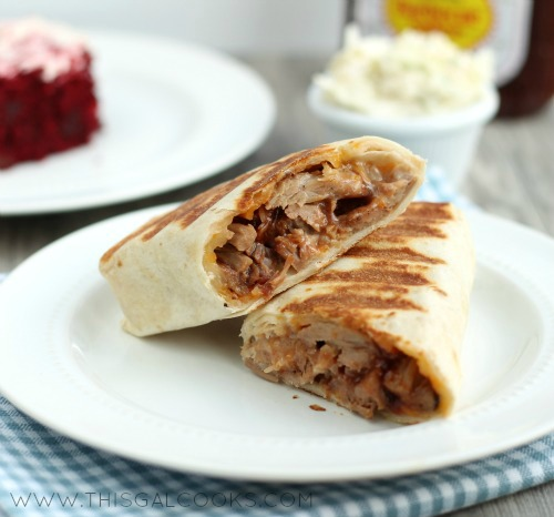 Hot BBQ Pork Ranch Wraps from www.thisgalcooks.com WM