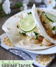 Tequila Lime Shrimp Tacos