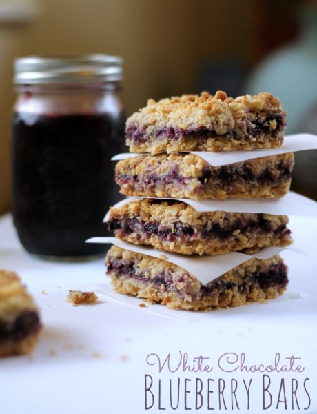 White Chocolate Blueberry Bars from www.thisgalcooks.com #blueberries #oatbars wm