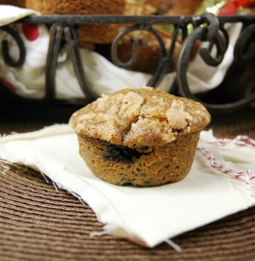 Blueberry Gingerbread Muffins 1