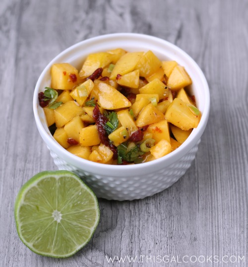 Chipotle Peach Salsa from www.thisgalcooks.com 2wm