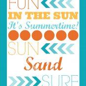 Summertime Printable Freebie