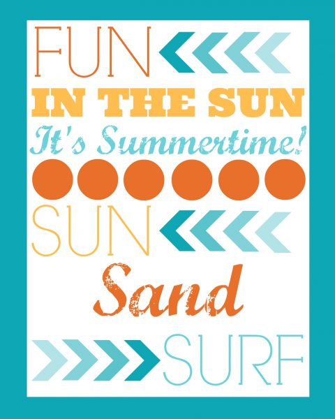 image relating to Printable Freebie known as Summer months Printable Freebie This Gal Chefs