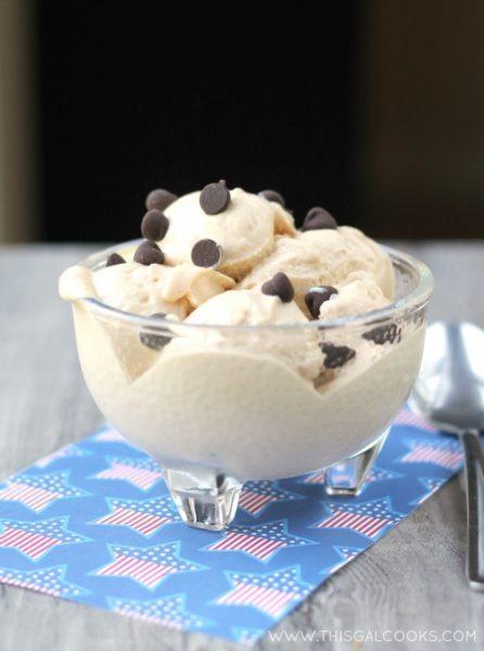 Peanut Butter Frozen Yogurt from www.thisgalcooks.com #peanutbutter #yogurt  WM