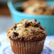 Peanut Butter Muffins with Peanut Butter Streusel