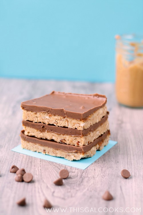 Peanut Butter Pretzel Magic Bars from www.thisgalcooks.com #peanutbutter #pretzelrecipes #bars 3WM