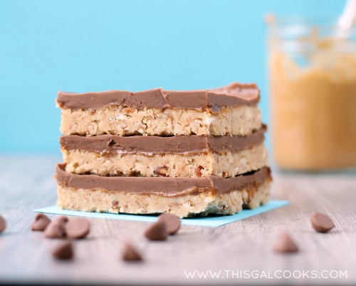 Peanut Butter Pretzel Magic Bars from www.thisgalcooks.com #peanutbutter #pretzelrecipes #bars 5WM