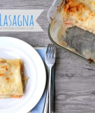 Seafood Lasagna from www.thisgalcooks.com #seafoodrecipes #lasagna WM