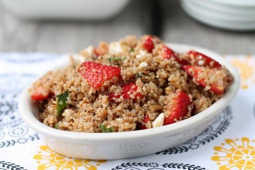 Strawberry Quinoa Salad from www.thisgalcooks.com #quinoa #strawberries 3