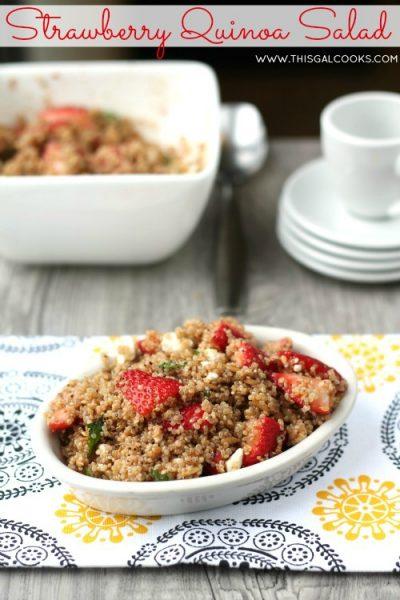 Strawberry Quinoa Salad from www.thisgalcooks.com #quinoa #strawberries 5WM