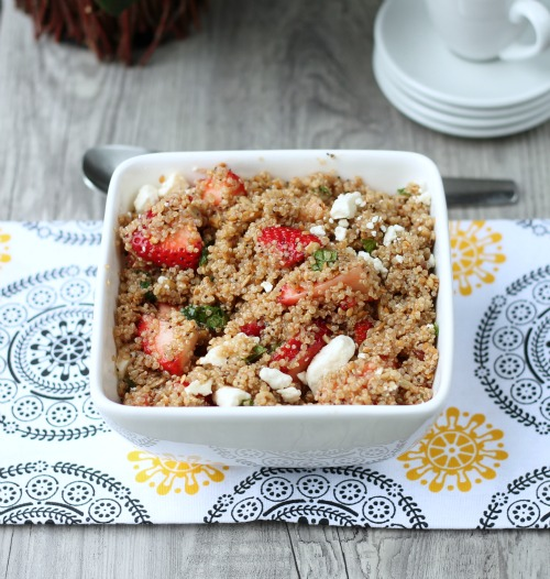 Strawberry Quinoa Salad from www.thisgalcooks.com #quinoa #strawberries