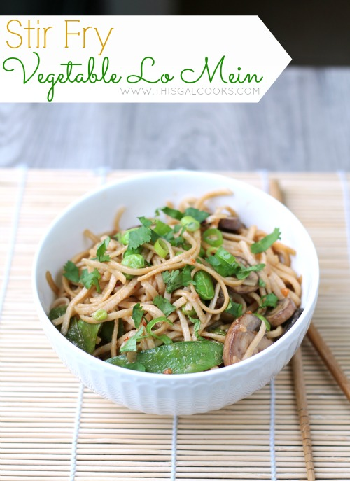 Vegetable Stir Fry Lo Mein from www.thisgalcooks.com #lomein #vegetarian 2WM